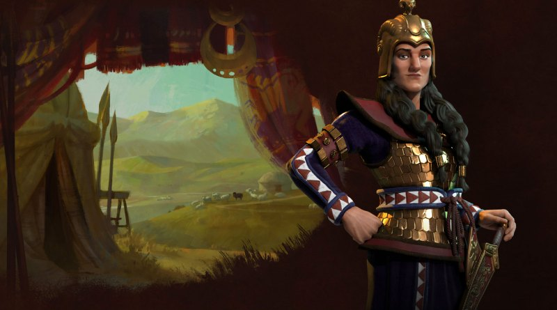 Томирис - лидер Скифов в Sid Meier's Civilization VI