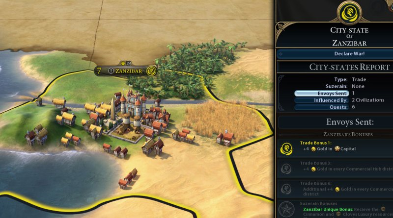 Sid Meiers Civilization VI: города-государства