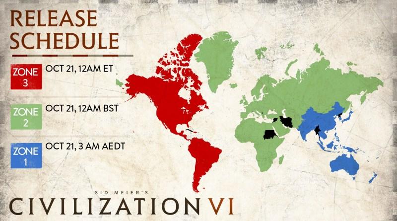 """""""Цивилизация 6"""" будет доступна для игры в 2 часа ночи по Москве 21 октября (пятница)"""