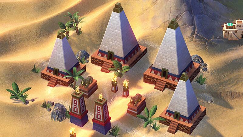 Уникальное улучшение Нубии - нубийские пирамиды