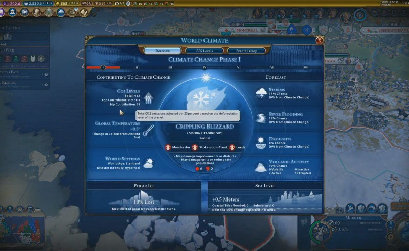 Civilization VI — Gathering Storm — Обзор климата
