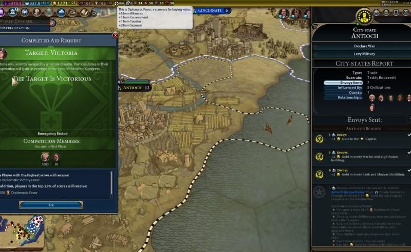 Civilization VI — Gathering Storm — Источники дипломатических услуг