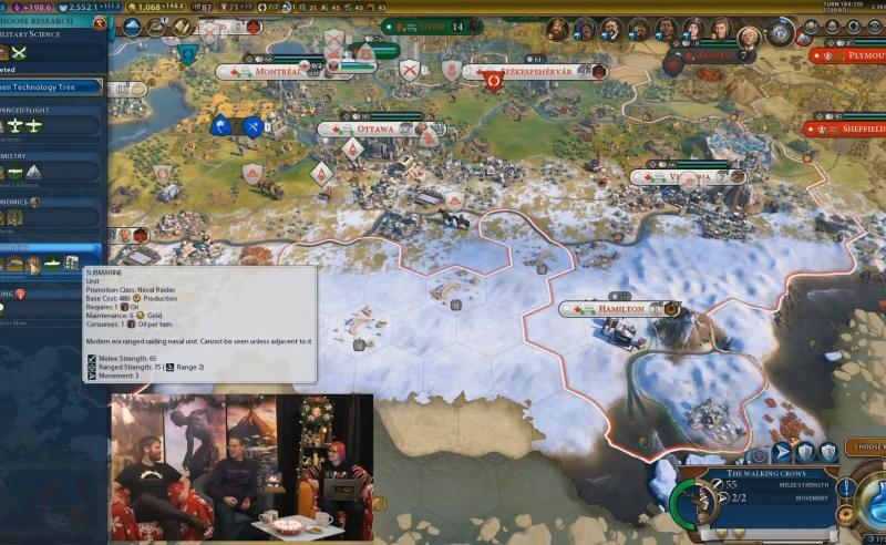 Civilization VI — Gathering Storm — Подводная лодка тратит нефть каждый ход