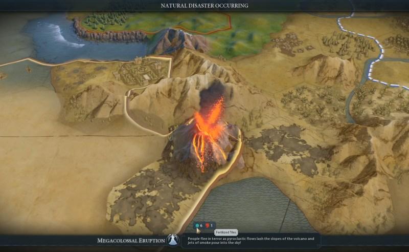 Civilization VI — Gathering Storm — Сколько тайлов было покрыто вулканическим пеплом