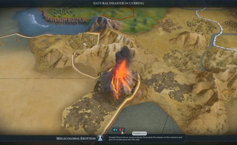 Civilization VI — Gathering Storm — Сколько жителей было убито вулканом