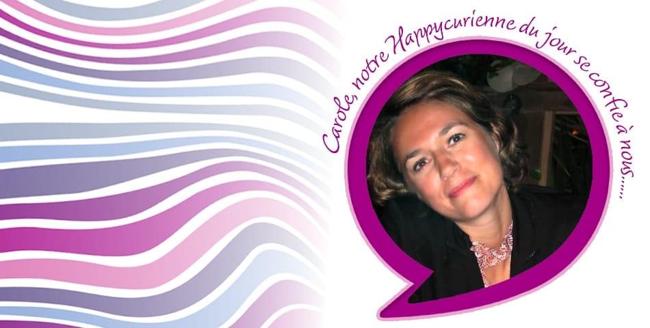 Happy Portrait de Carole, fidèle happycurienne, adepte de la cosmétique bio, La Joyeuse et La Re-belle
