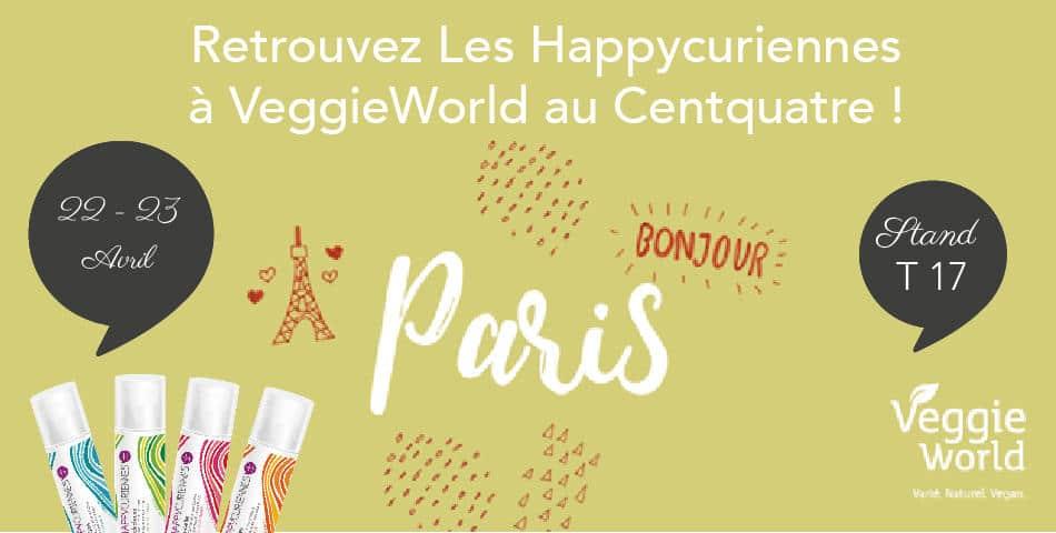 Les Happycuriennes et leurs soins cosmétiques vegan seront présentes au salon vegan, VeggieWorld, à Paris les 22 et 23 avril 2017