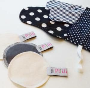 Plim, partenaire Les Happycuriennes, serviettes hygiéniques et lingettes démaquillantes réutilisables