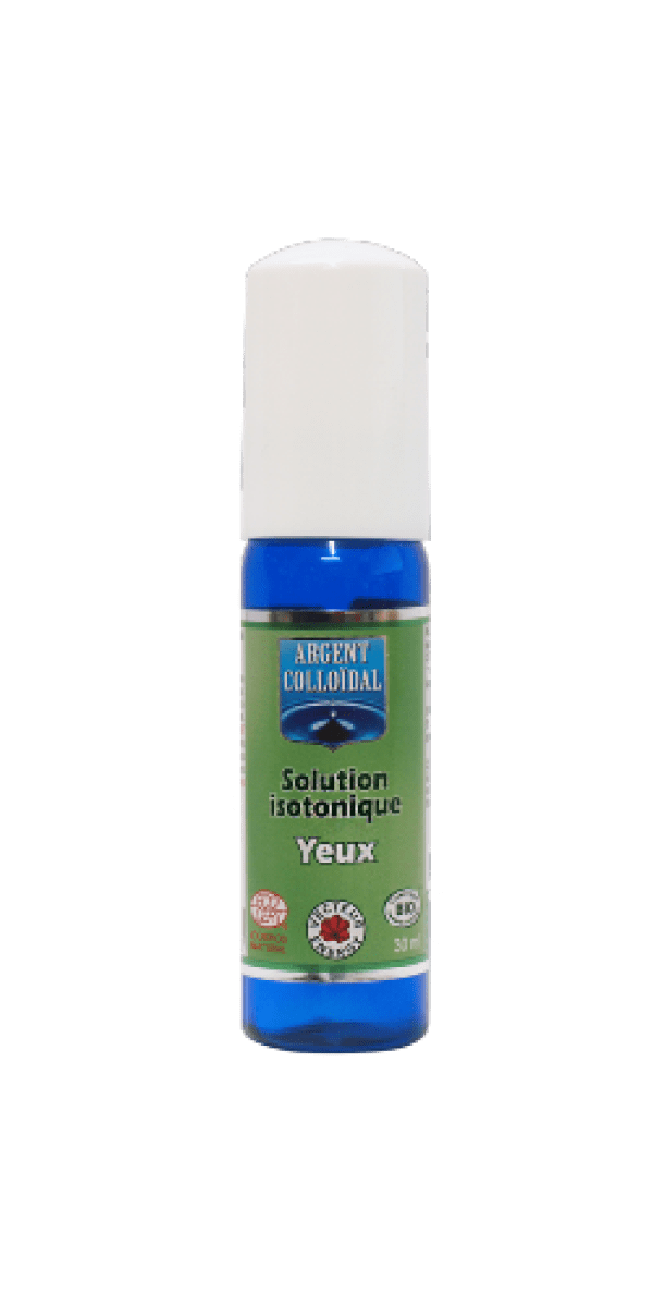 Solution Isotonique bio Yeux  Argent Colloidal 20 ppm – Vecteur Energy
