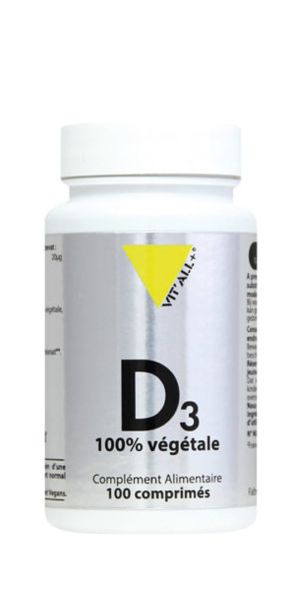 Vitamine D3 Végétale 20µg  – Vit'all +