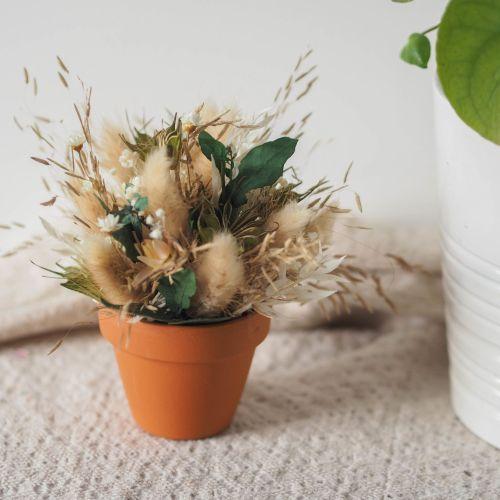 Mini pot fleuri Angus (réalisé à la commande)