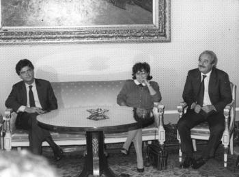 Claudio Martelli Falcone et Livia Pomodoro (Archives photographiques Courier)