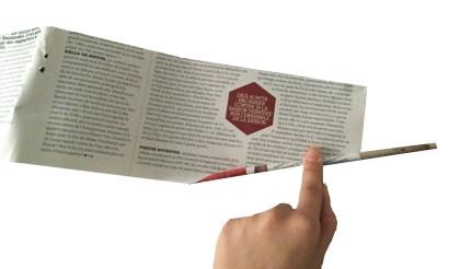 panier papier journal