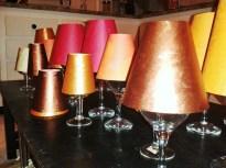 DIY Wine Glass lanterns