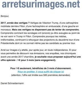 Email d'Arrêt sur Images – Capture d'écran Olivier Simard-Casanova