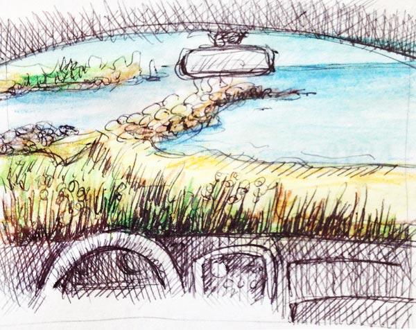 Sketching-voiture-exteireur-4l