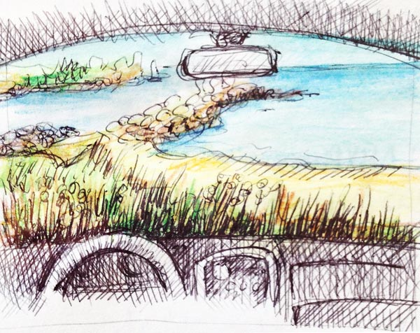 Sketching-voiture-exteireur-4l
