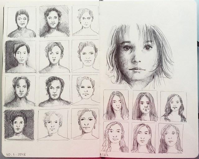 portrait-contour-double-page