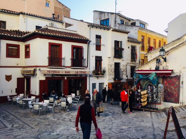 Granada, ville en Espagne, jolies maisons, spain, plaza granada
