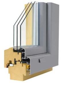 Prerez les / aluminij okna linije LUX 9.7 (Okna Gašper)