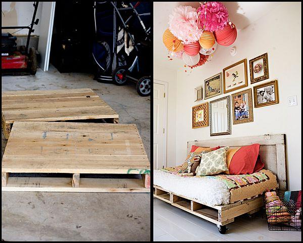 Dodatno ležišče iz lesenih palet (vir: ashleyannphotography in norskeinteriorblogger)