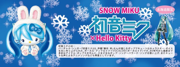 Collection Miku x Hello Kitty. Baneau.