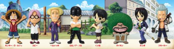 Monkey D. Luffy ■ Coby ■ Helmeppo ■ Zoro ■ Kuina ■ Gaimon ■ Tashigi ■ Smoker