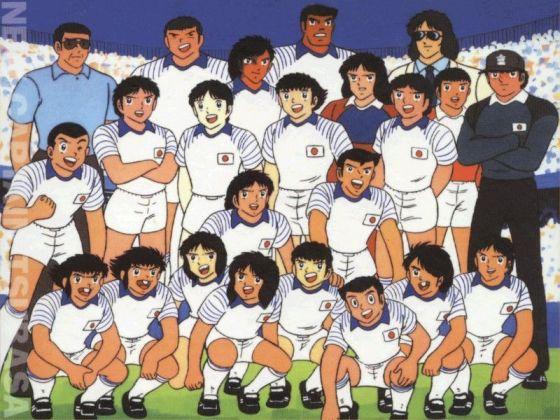 L'équipe national du Japon, Olive & Tom, captain Tsubasa.