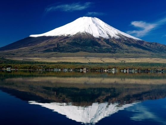 Reflet du Fuji dans le Yamanaka-ko.