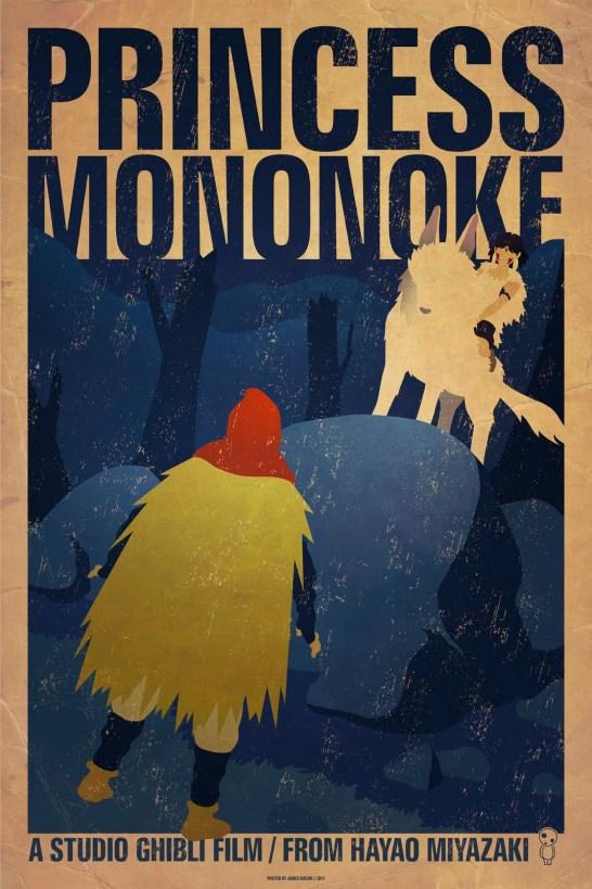 Princesse Mononoke, par James Bacon