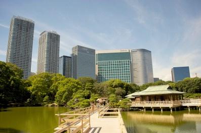 Jardin Hama-Rikyu, Shiodome, Tokyo, par Yoshikazu Takada.