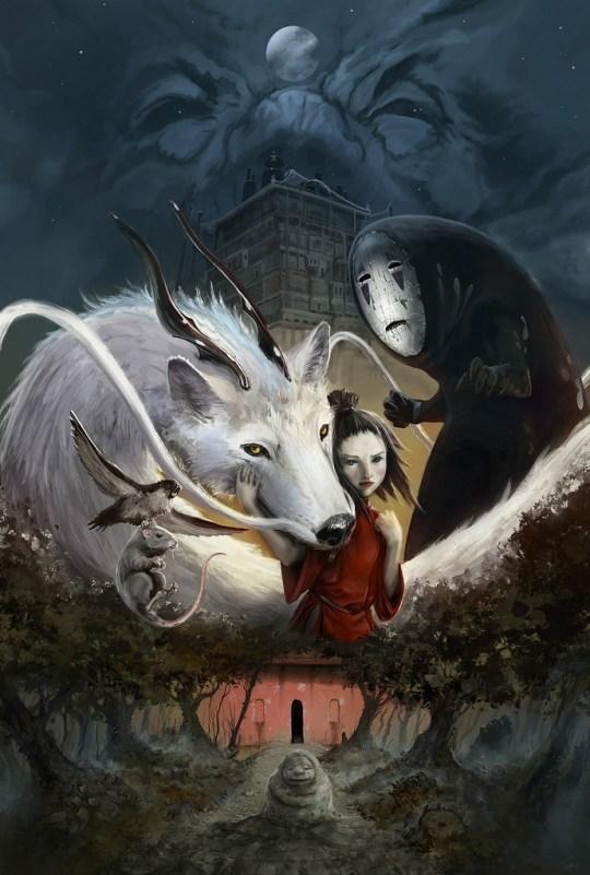 Chihiro, Studio Ghibli redesign par ZAPHK.