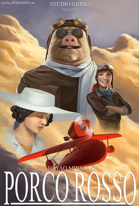 Porco Rosso, affiche par ZAPHK.