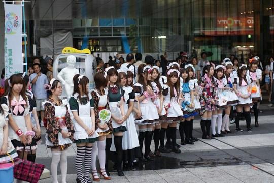 Concours de maid à Akihabara par steve nagata