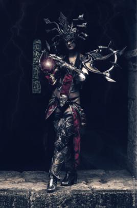 Sakura flame cosplay Sorcière diablo, par Kashu