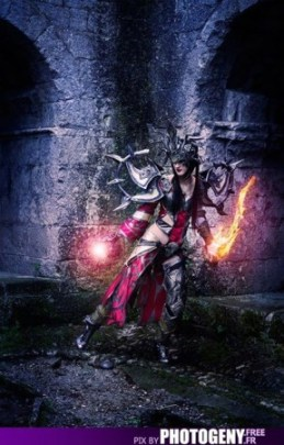 Sakura Flame Cosplay sorcière Diablo, par photogeny.