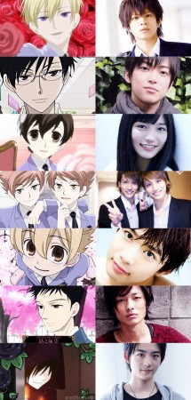 Ouran Highschool Host Club affiche Différences Anime/Drama