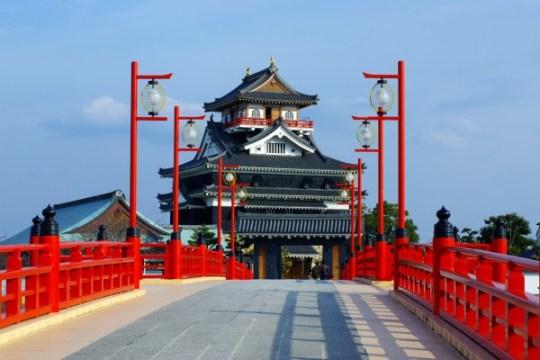 Château de Kiyosu, et pont Ote.