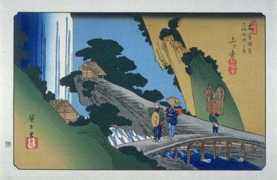 Agematsu estampe de Hiroshige