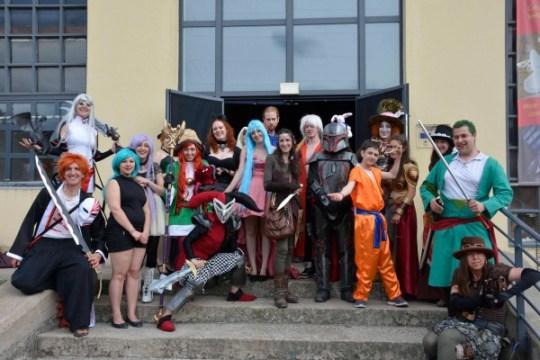 Quelques uns des cosplayeurs présent à l'événement.