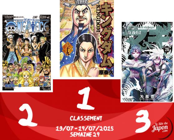 Classement Manga 2015 | semaine 29 | 13/07 au 19/07