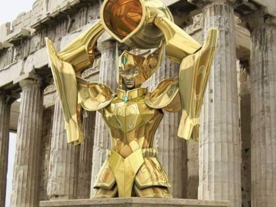 Armures chevaliers d'or vierge