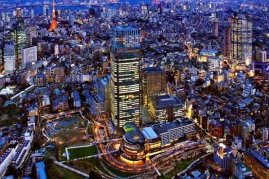 Tokyo Midtown vue de nuit.