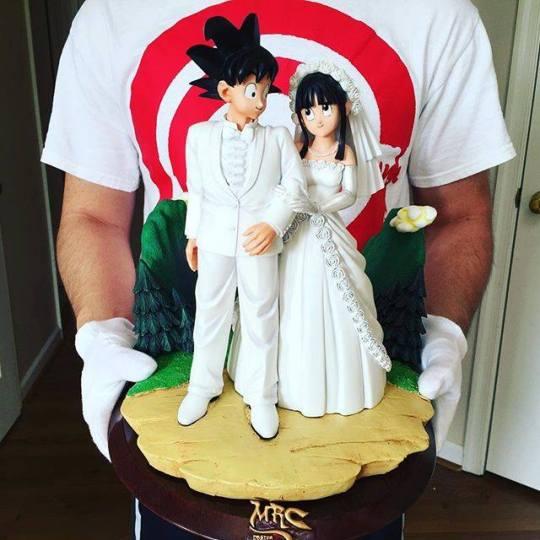 Goku et Chichi mariage, figurines dragon ball