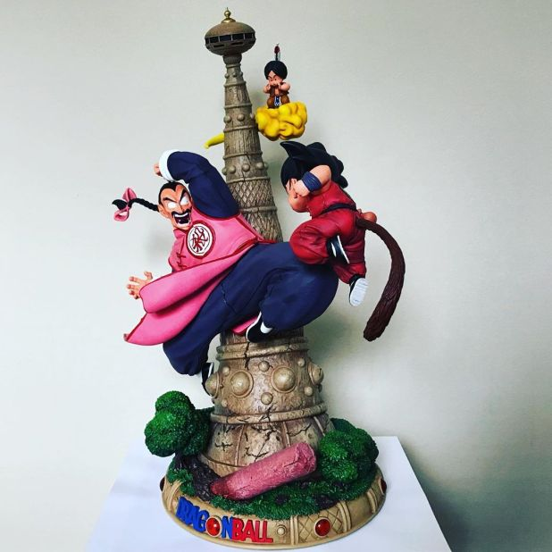 Tao pai pai vs Goku, figurines dragon ball