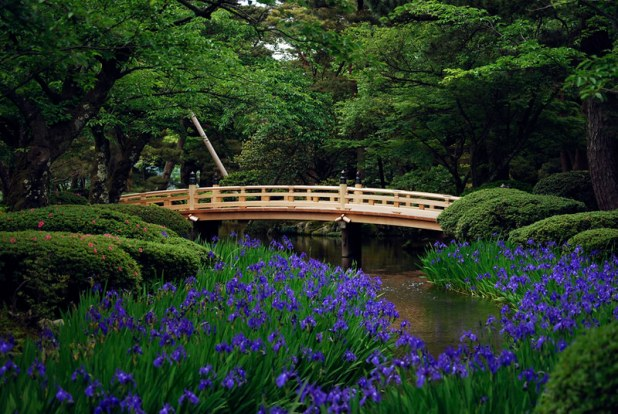 Pont au  Kenrokuen de Kanazawa