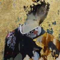 Kimono, peinture à l'huile sur toile par Christian Hook.