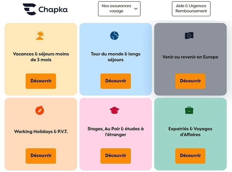 Les offres de l'assurance Chapka