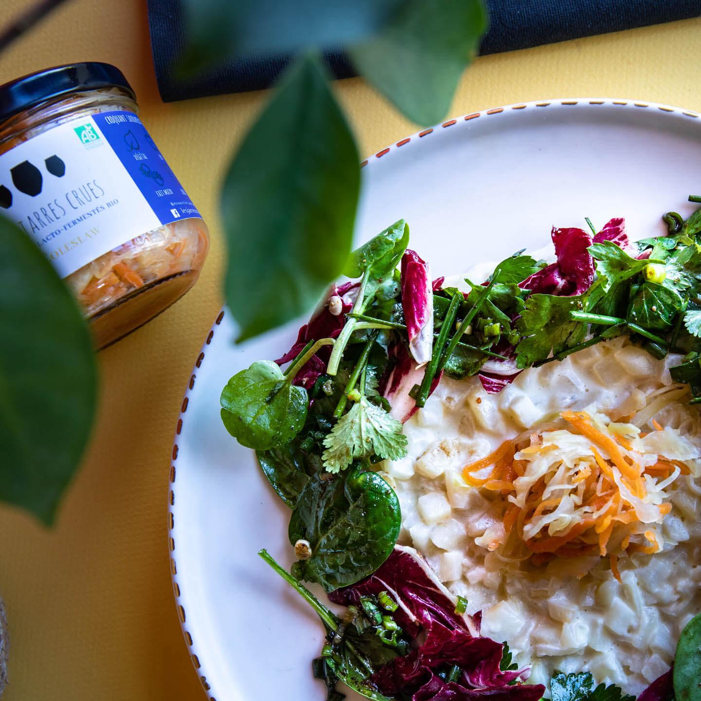 Le coleslaw est un produits lacto-fermenté