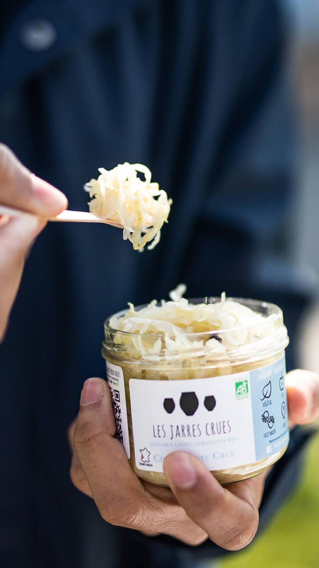 La choucroute est un aliment lacto-fermentée crue